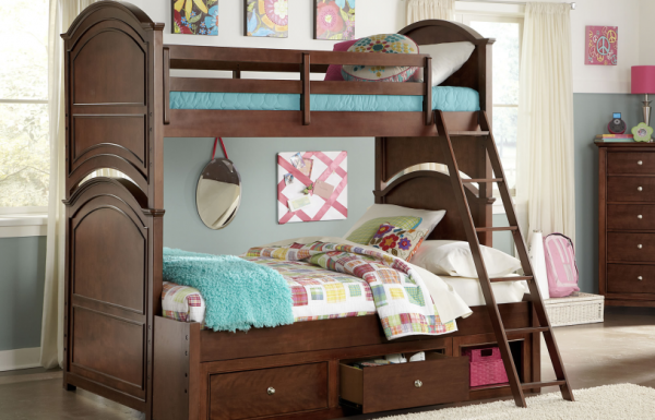 Legacy Classic 4 Pc. Impressions Twin over Full Bunk Bedroom Set - Classic Clear Cherry-0
