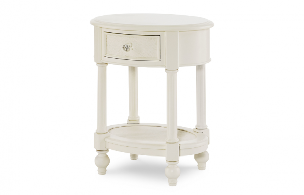 Legacy Classic Harmony by Wendy Bellissimo Oval Night Stand - Antique Linen White-467