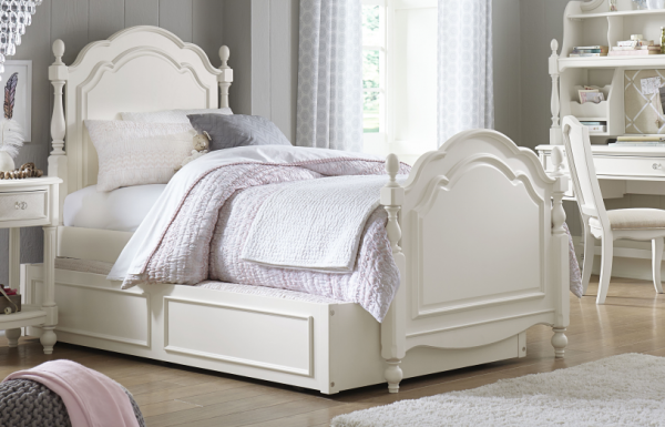 Legacy Classic Harmony by Wendy Bellissimo Low Poster Bed, Full - Antique Linen White-0