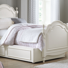 Legacy Classic Harmony by Wendy Bellissimo Low Poster Bed, Twin - Antique Linen White-0