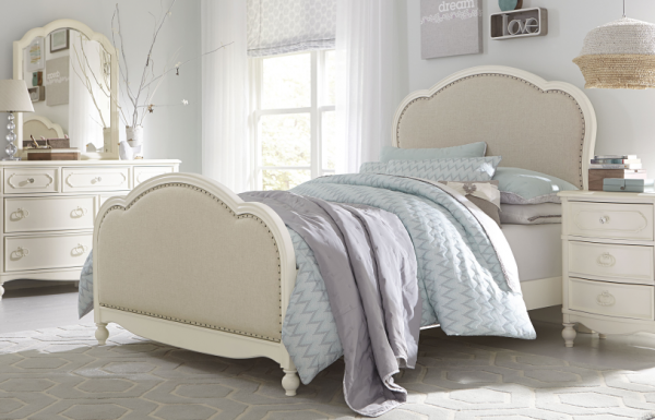 Legacy Classic Harmony by Wendy Bellissimo Upholstered Bed, Full - Antique Linen White-0