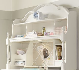 Legacy Classic Harmony by Wendy Bellissimo Desk Hutch - Antique Linen White-463