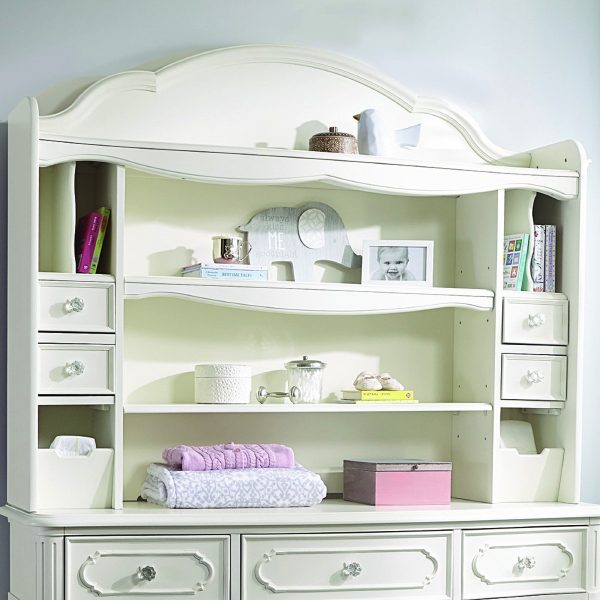 Legacy Classic Harmony by Wendy Bellissimo Bookcase/Hutch - Antique Linen White-0