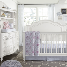 Legacy Classic 2 Pc. Harmony by Wendy Bellissimo Convertible Crib & Chest - Antique Linen White-0