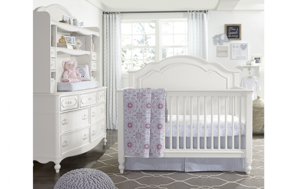 Legacy Classic Harmony by Wendy Bellissimo Grow With Me Convertible Crib - Antique Linen White-465