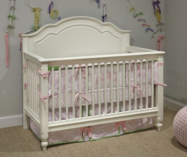 Legacy Classic Harmony by Wendy Bellissimo Grow With Me Convertible Crib - Antique Linen White-0