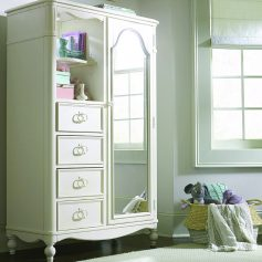 Legacy Classic Harmony by Wendy Bellissimo Mirrored Door Chest - Antique Linen White-0