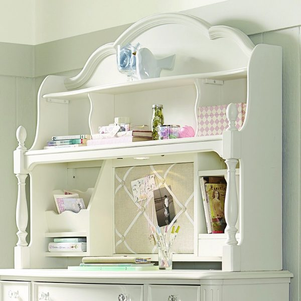 Legacy Classic Harmony by Wendy Bellissimo Desk Hutch - Antique Linen White-0