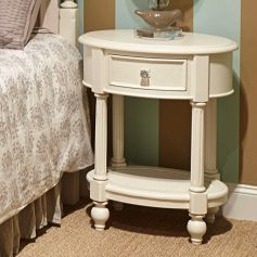 Legacy Classic Harmony by Wendy Bellissimo Oval Night Stand - Antique Linen White-0