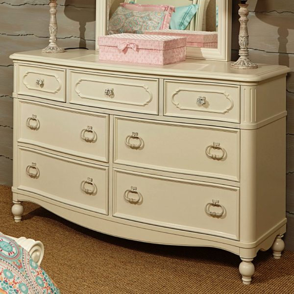 Legacy Classic Kids Harmony 7 Drawer Dresser in Antique Linen White-2331