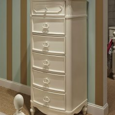 Legacy Classic Kids Harmony 6 Drawer Lingerie Chest in Antique Linen White-0