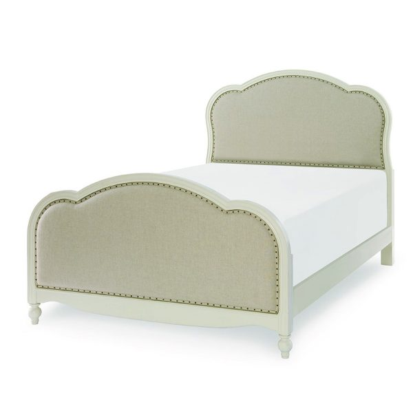 Legacy Classic Kids Harmony Victoria Upholstered Full Size Bed in Antique Linen White-2337
