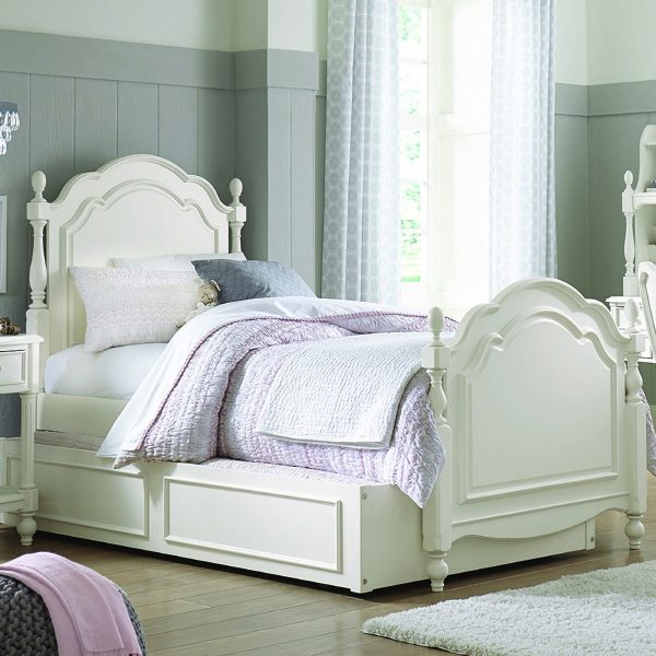 Legacy Classic Kids Harmony Summerset Twin Size Bed in Antique Linen White-2382