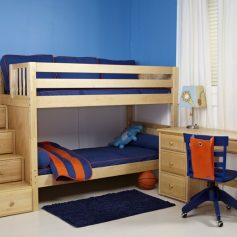 Bunk Bed Natural Wood-0