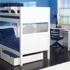 Bunk Bed White-0