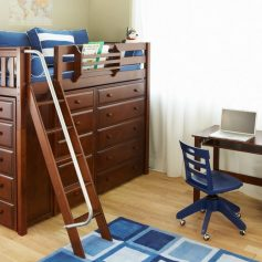 Storage Loft Bed Chestnut-0