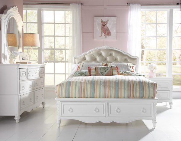 Upholstered Storage Bed-0